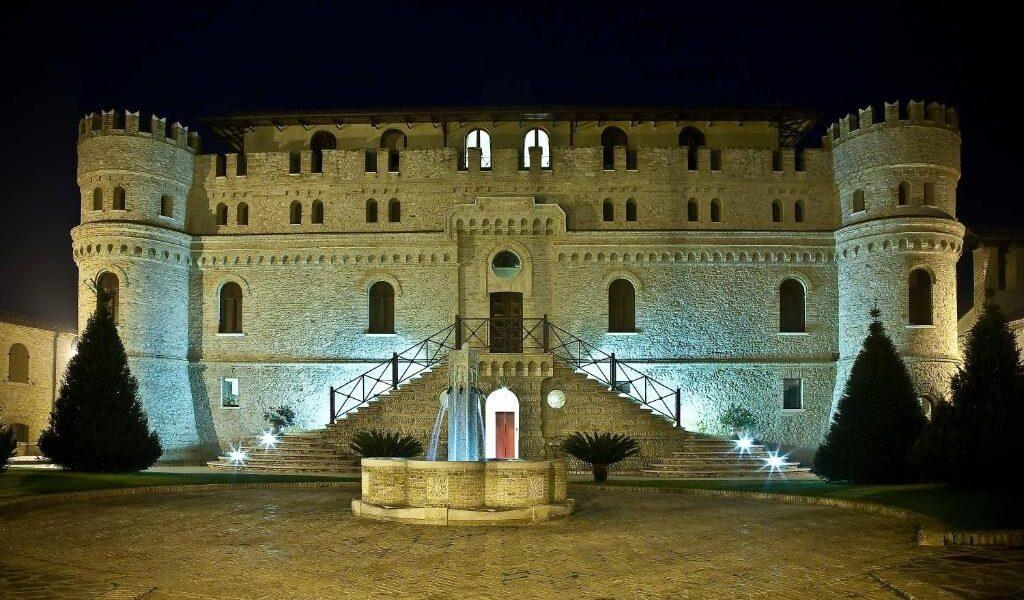 stone facade castle Castello di Septe Abruzzo Italy