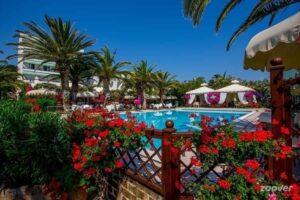 beach wedding venue pool beautiful gardens Italy