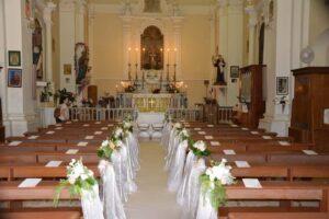 church wedding flowers Italian vineyard