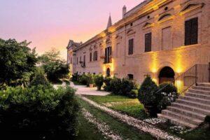 Facade antique palace boutique hotel wedding venue Italy