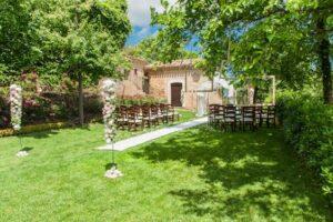 Italian garden wedding ceremony wedding flowers