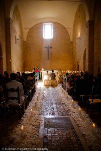 Catholic Church marriage ceremony at La Badia in Orvieto