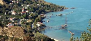 Trabocco on the Adriatic coast in Fosacessia Ortona