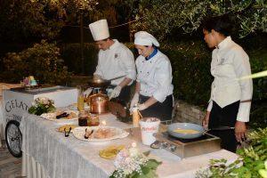 Italian chefs cooking banquet rural wedding venue Abruzzo