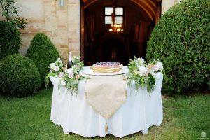 wedding cake peach white gold wedding flowers wine cellar