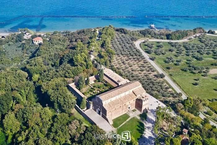 Ancient abbey sea view Fossacessia San Giovanni in Venere Italy