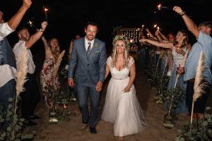 Stunning beach ceremony design at a wedding in the comune of Silvi in Abruzzo Italy