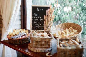Italian bread rustic buffet wedding venue Abruzzo