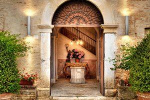 Entrance Castello di Semivicoli wine resort wedding venue Italy