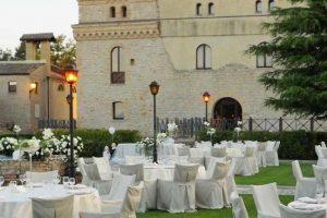 Wedding tables Italian garden wedding venue Castello di Septe