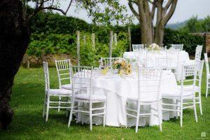 white wedding tables garden venue Abruzzo Italy