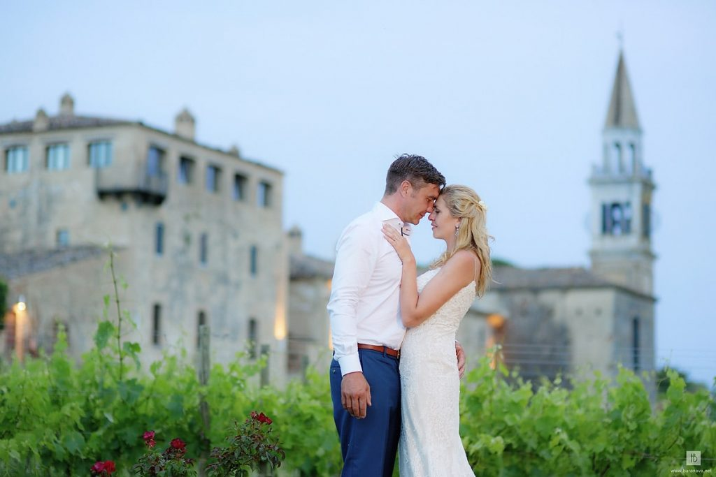 wedding couple stone castle vineyard Castello di Semivicoli Italy