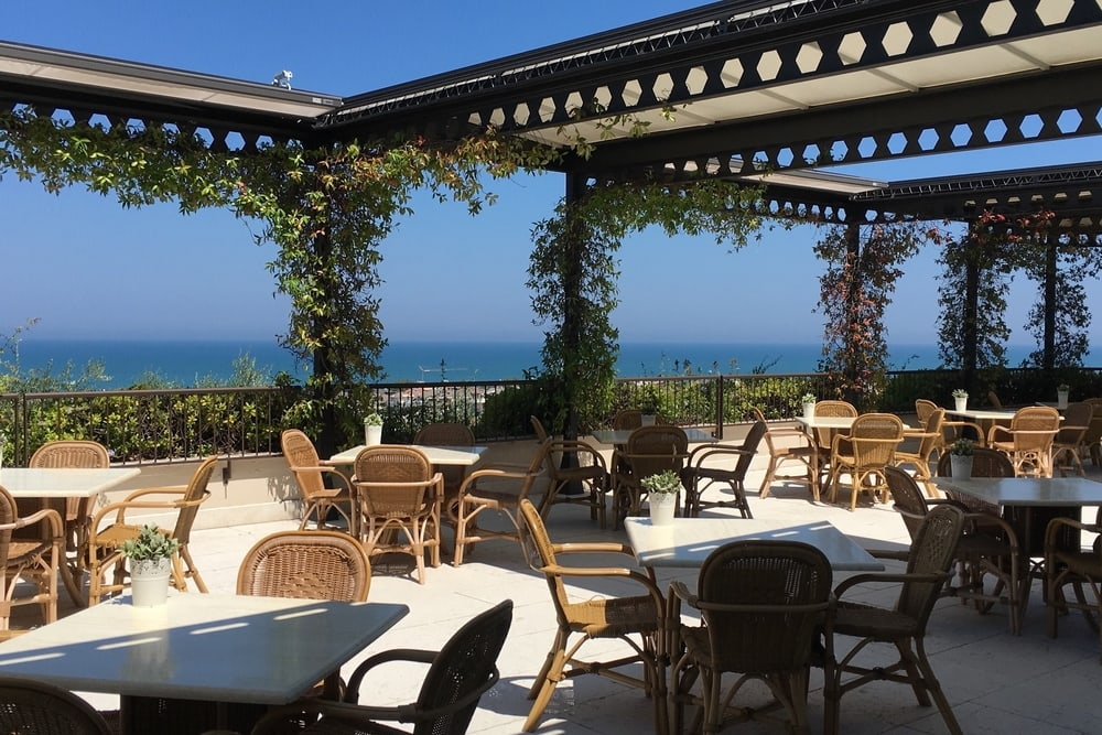 terrace sea view wedding venue Abruzzo Italy
