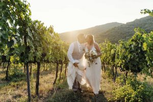 Wedding venue in Umbria Villa Monte Solare offers official ceremonies and rural vineyard setting