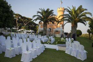 Sea view castle venue near Rome, for a wedding in Italy