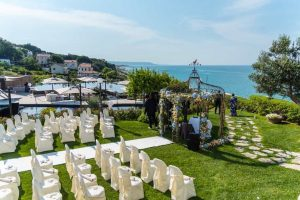 Stunning sea view ceremony at unique luxury wedding Villa Estea Fossacesia Abruzzo Italy