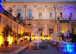 Large luxury villa for weddings in Rome, Villa Aurelia central Rome