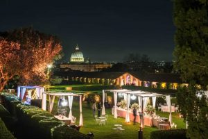 Villa Piccolomini - Villa for Weddings in Italy with a view on the Vatican in Rome