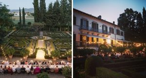 Exclusive Wedding venue in Florence for hire with bedrooms Villa Merlo Nero Florence Italy