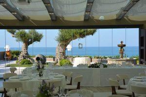 Panoramic sea view reception at Villa Estea Fossacesia in Abruzzo, Italy