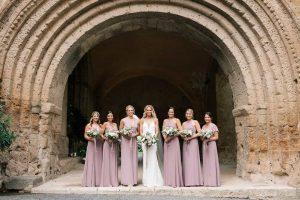 Church marriage ceremony in Umbria at La Badia in Orvieto