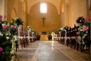 Marriage ceremony in Umbria at La Badia in Orvieto