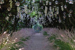 Garden for wedding photos in Villa Aurelia