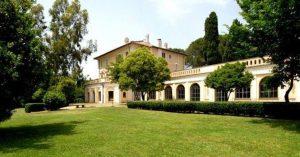 Grand villa and gardens of Villa Piccolomini in central Rome