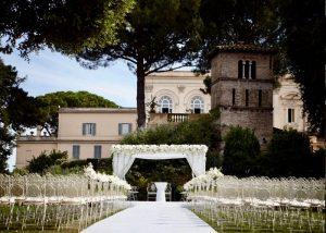 Rome Villa Aurelia, extensive garden view