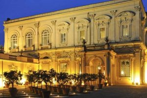 Villa Aurelia in Central Rome - External view of the villa by night