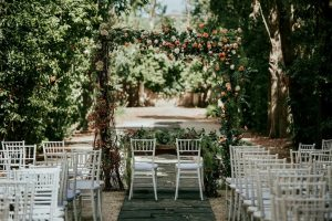 Marriage ceremony in private gardens in Rome