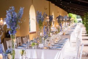 Elegant garden dining at Villa Piccomolini in Rome