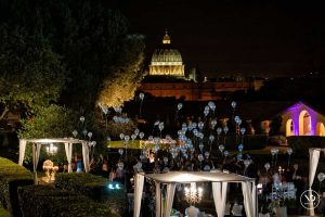 Luxury wedding venues in Rome with a view of the Vatican City