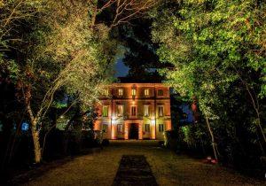 Villa in Rome backdrop by night