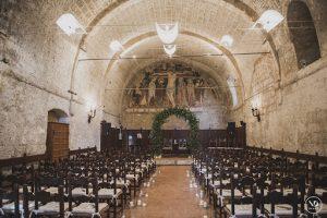 Ex monastery wedding venue and hotel with outdoor ceremony and reception spaces. La Badia Orvieto Umbria Italy