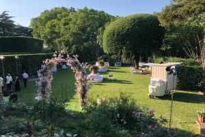 The Secret Garden at Villa Aurelia: Image of gardens before a wedding