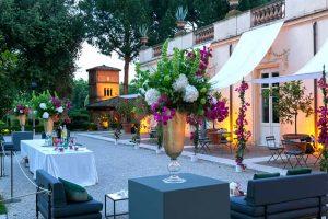 View of the gardens in Villa Aurelia (relax zones)