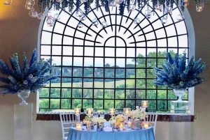 Romantic Bride and Groom table setting