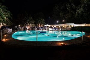 Beach Weddings in Italy - Evening view of outdoor pool